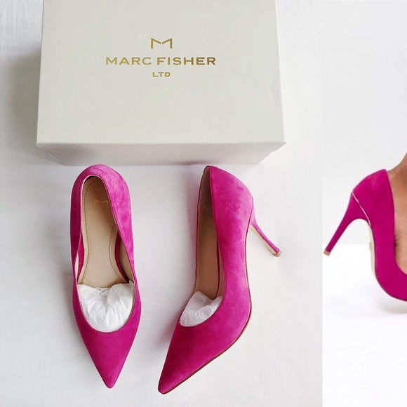 b1251fb6689 New MARC FISHER LTD Carter Suede Pointed Toe Pumps